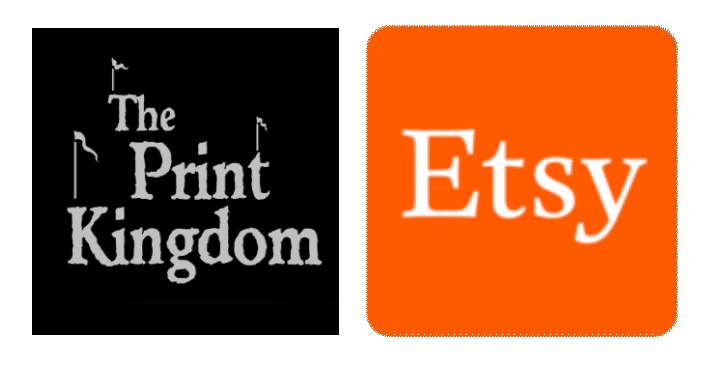 printkingdom and etsy